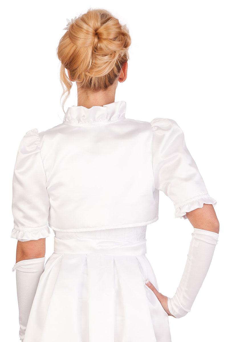 39addd3f88f7b8 weitere Produktabbildung SB-Tracht Damen Trachten Bolero - HOCHZEIT - weiß