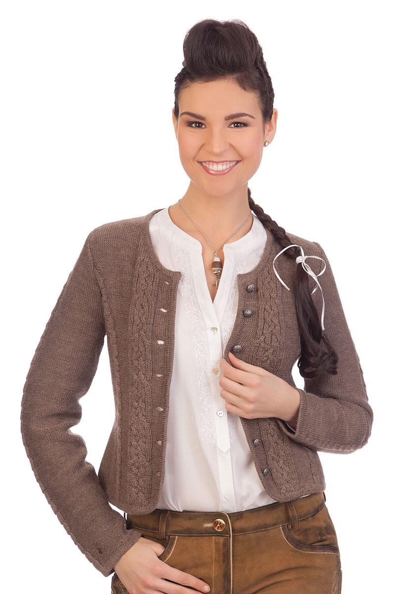 9bf50b54ec4b1b Strickjacke I Spieth & Wensky Damen Mode: Bonn, nuß & weiß