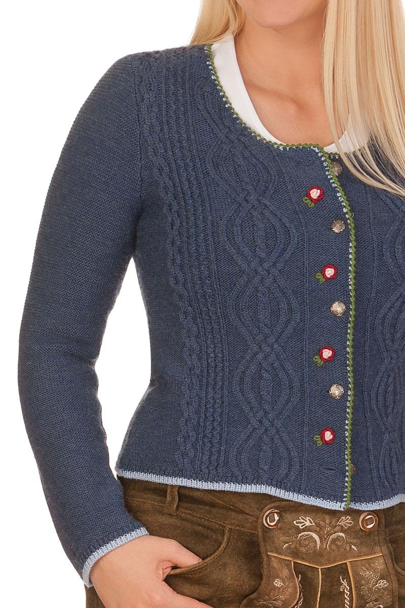 681b3c8ff7d4be weitere Produktabbildung Spieth & Wensky Damen Trachten Strickjacke - FANCY  - jeansblau, nuss