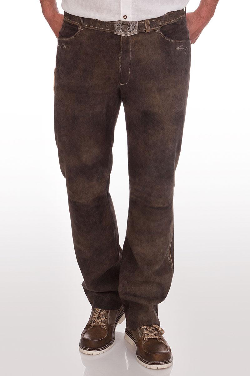 aa9e1be3a03e weitere Produktabbildung Spieth   Wensky Lange Trachten Lederhose - ALDO -  braun antik