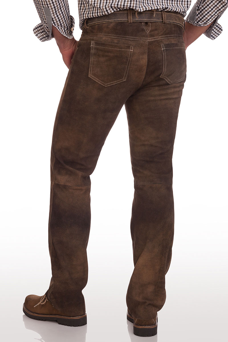 schnüren in bester Verkauf Räumungspreis genießen Lange Trachten Lederhose - TASSILO - schiefer