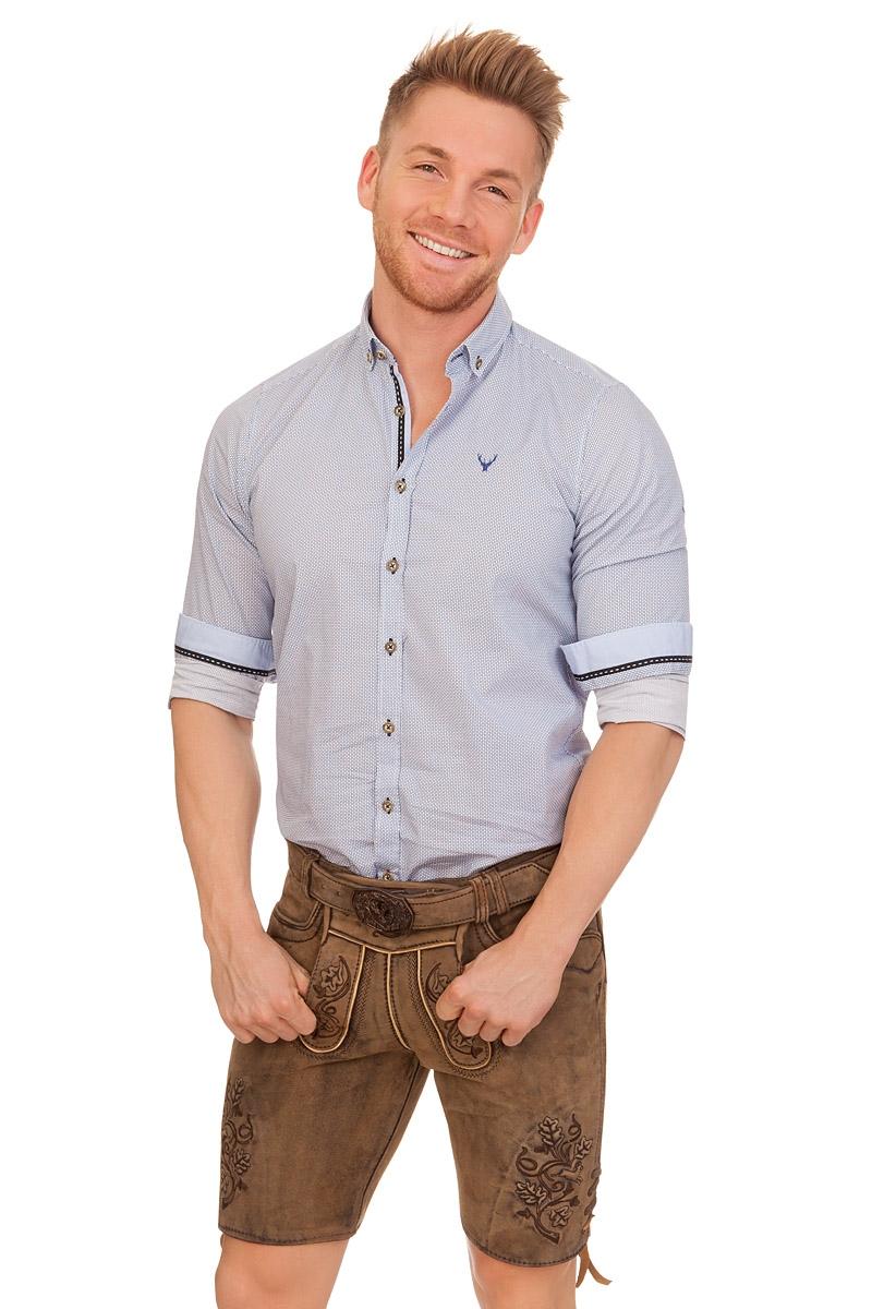 neuesten Stil von 2019 moderne Techniken neueste auswahl Lederhose Herren kurz - KUNO - hellbraun