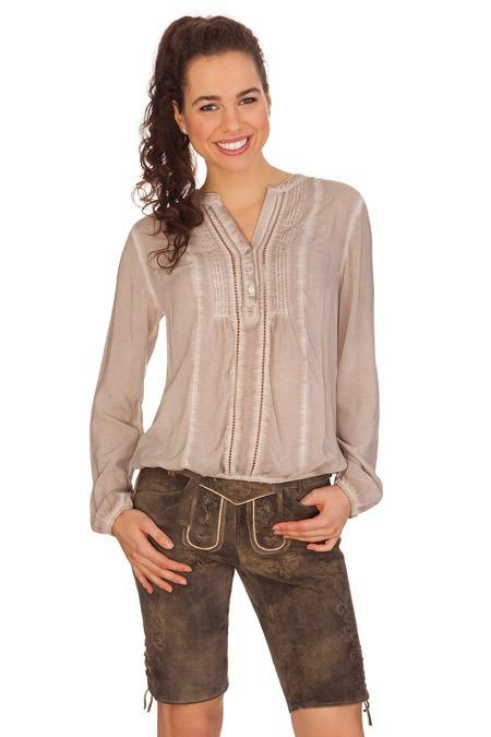 Vielzahl von Designs und Farben wo zu kaufen Online-Verkauf Trachtenlederhose Damen kurz - BICHL - erde