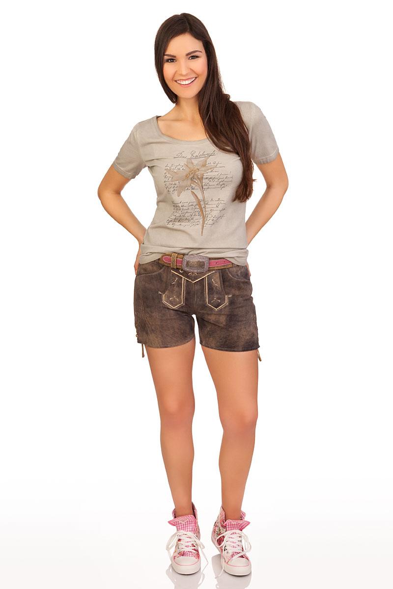 große Auswahl suche nach dem besten heiß-verkaufende Mode Trachtenlederhose Damen kurz - PANKA - marone