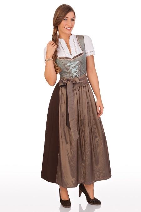 Brautkleid Tã¼Rkis | Stutzle Damen Dirndl Lang Trachten Kleid Festdirndl Rosa Turkis 95cm