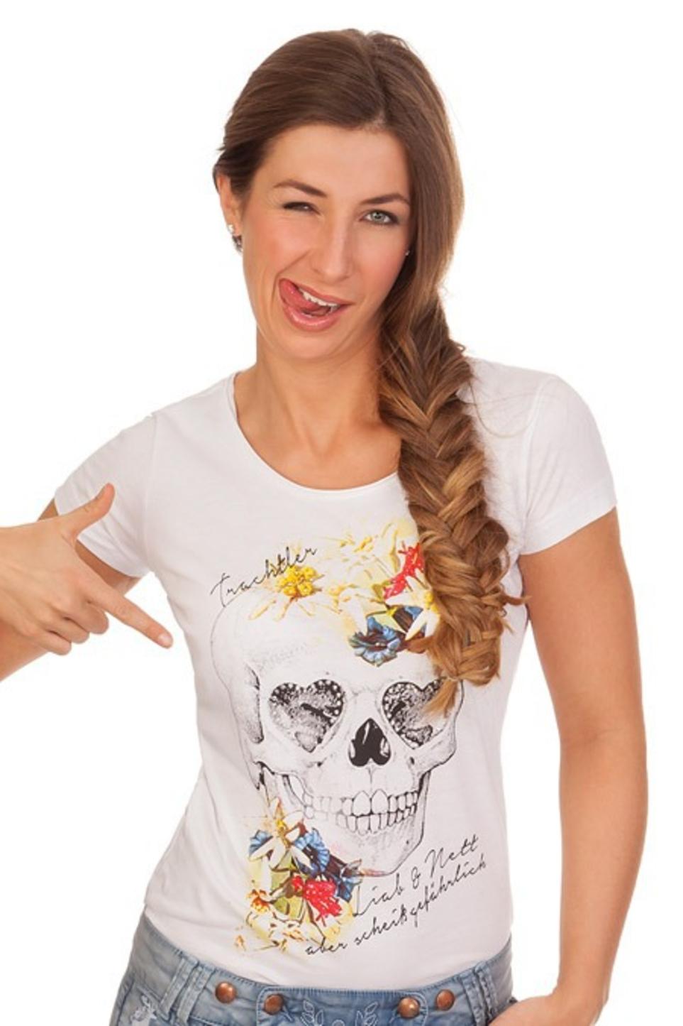 31116d8517d1ef Hangowear Trachten Shirt - MERLE - weiß online kaufen
