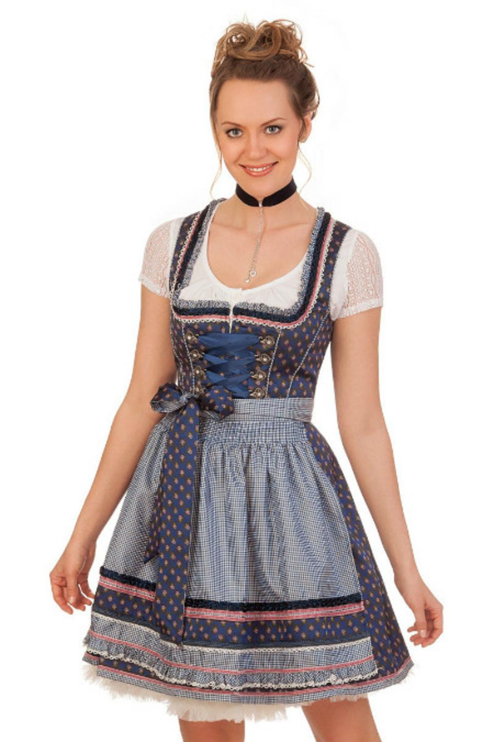 260241bb935e0c Krüger Madl Mini Dirndl 2tlg. - ROSABELLA - blau online kaufen, Minidirndl