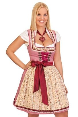 5994866df2847a Krüger Madl Trachten Minidirndl 2tlg. - ELA - bordeaux
