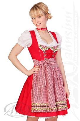 eed2a011a930c6 Krüger Madl Trachten Minidirndl 2tlg. - HAPPINESS - rot