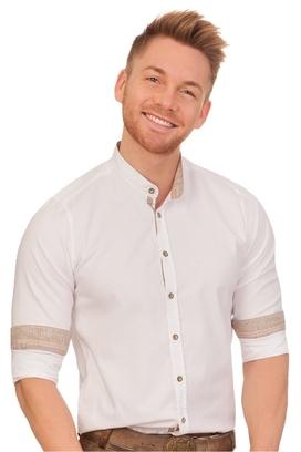PURE Trachtenhemd mit langem Arm - FREDERIK - weiß ea5001d2f8