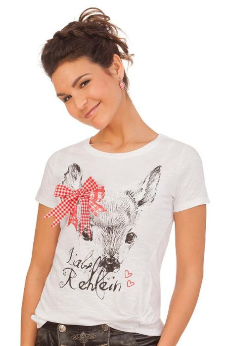 Altrosa ROSI hellgrau Trachten Damen Shirt