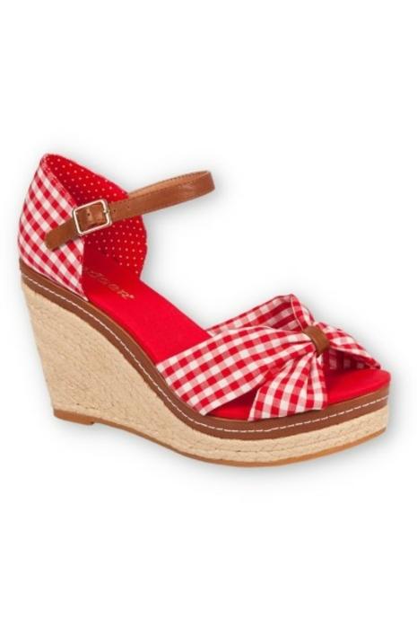 Bequeme Damen Riemchen Keil Sandaletten Pumps Keilabsatz