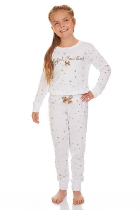 9689d69928 Trachten Kinder Pyjama EINFACH HIMMLISCH - weiß