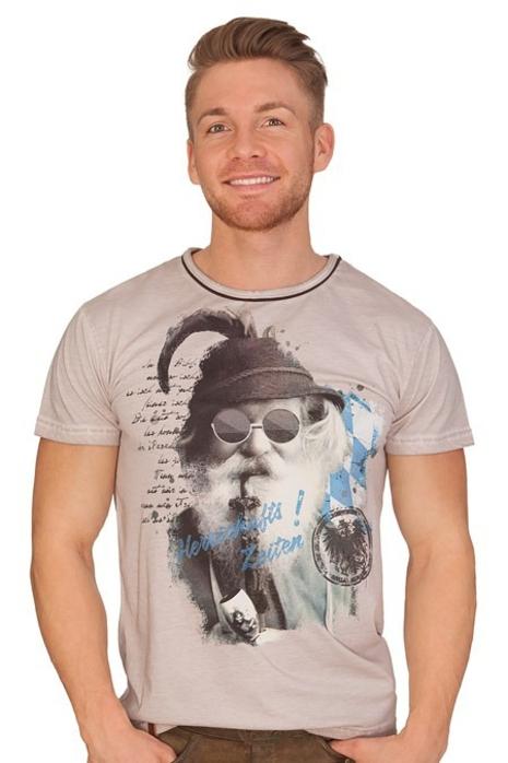 50d3314c53987f Hangowear Trachten Herren Shirt - BEPPI BAVARIA - grau online kaufen ...