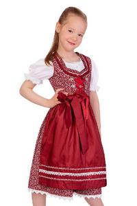 Marjo Trachten Kinder Dirndl Neduna beere-creme m.Bluse,ww 40/% Gr.98 bis 140