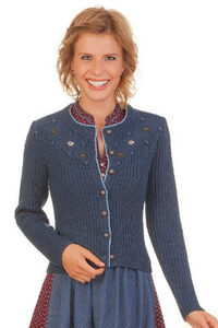 e3d229491c591a Spieth & Wensky Trachten Strickjacke Damen - HERSBRUCK - nuß, jeansblau